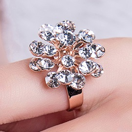 Splendid All Matched Flower Ring