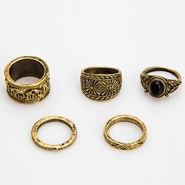Retro Alloy Six Pieces Ring Set