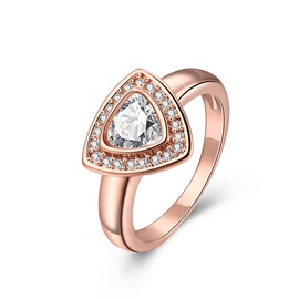 Triangle Zircon Embellished Women's Ring