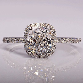 Shiny Princess Cut Imitation Diamond-Shaped Wedding Ring