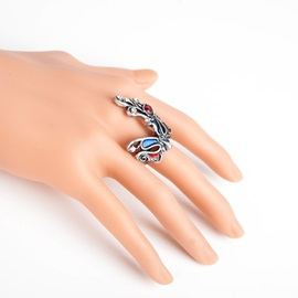 Colorful Mysterious Mask Shaped Adjustable Gothic Halloween Rings