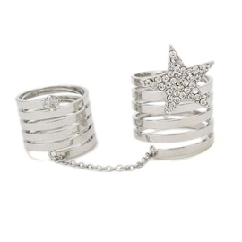 Helix Design Star Pendent Knuckle Rings