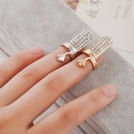 Full Drill Floral Alloy Nail Ring