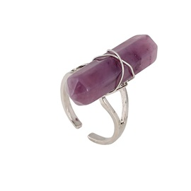 Ultra Violet Stone Inlaid Ringent Ring