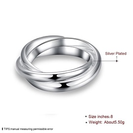 Simple Three-Layer Silver-Plated Rings