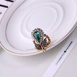 Sparkling Butterfly Shape Full Drill Alloy Ring