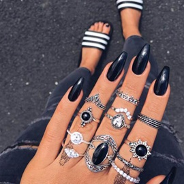 Fashion Alloy Ring Set