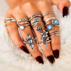 Diamante Alloy Fashion Ring
