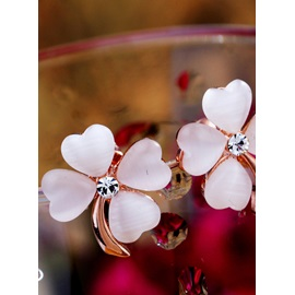 Awesome Beautiful White Alloy Earrings