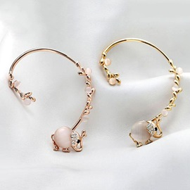 Trendy Cute Opal Little Elephant Women Ear Cuff