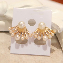 Cute Pearls Decorated Earrings