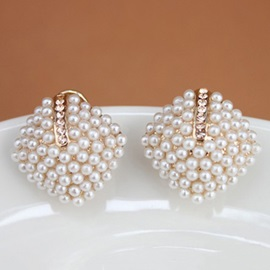 com shaped square earrings pearl product tidebuy decorated