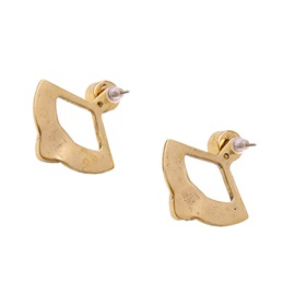 Alloy Fan Shaped Stud Earrings