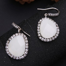 Irregular Gemstone Pendant Earrings