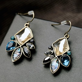 Exquisite Colorful Gemstone Earrings
