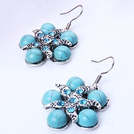 Starfish Shaped Turquoise Earrings