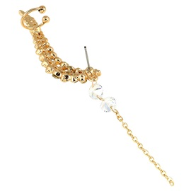 Chain Tassel Full Rhinestone Ear Cuff