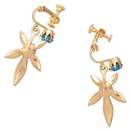 Beautiful Golden Flower Earrings