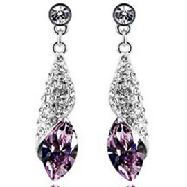 Shining Rhinestone Pendant Earrings