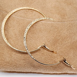 Simple Golden Diamante Hoop Earrings