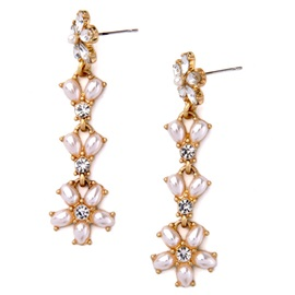 Long Imitation Pearl Design Women's Earrings