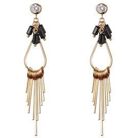 Golden Long Diamante Tassels Women
