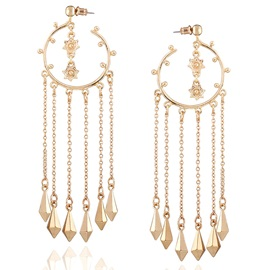 Golden Long Tassels All-Matched Women's Earrings