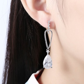 Romantic Zircon Mosaic Copper Plating Earrings