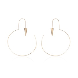 Minimalist Circle Ringent Golden Creative Metal Earrings