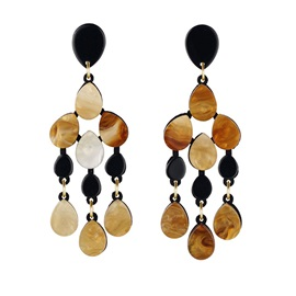 Accshine Exaggerated Water Drop Shape Acrylic Tassel Alloy Earrings
