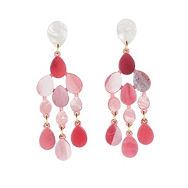 Accshine Exaggerated Water Drop Shape Tassel Acrylic Earrings