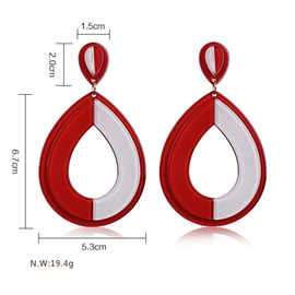 Accshine Water Drop Hollow Out Stud Drop Acrylic Earrings
