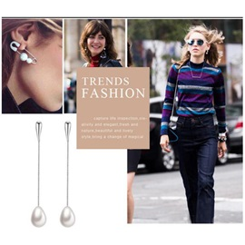 Long Chain Pearl Alloy European Earrings