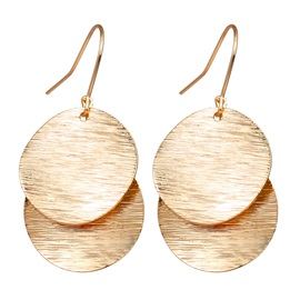 Double Layered Metal Sequins Drop Earrings