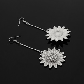 Metal Sun Flower Shape Alloy Drop Earrings