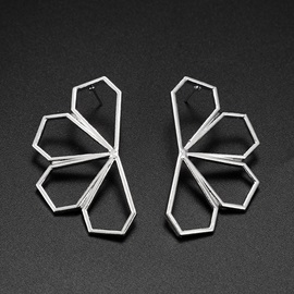 Hollow Out Floral Shape Alloy Party Earrings