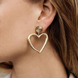 Hollow Out Heart-Shaped Party Drop Earrings