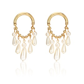 Water Drop Shape Pearl Ladies Drop Earrings