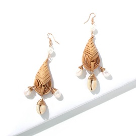 Handmade Conch Alloy Holiday Earrings