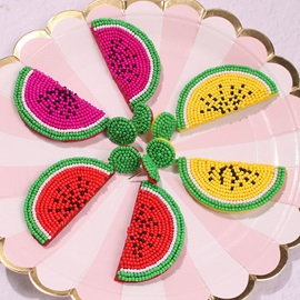 Sweet Color Block Fruit Earrings
