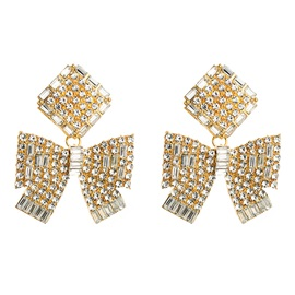 Sweet Diamante Alloy Holiday Earrings