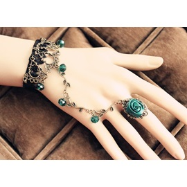Bohemian Retro Blue Women's Rings Bracelet