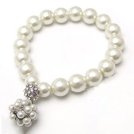 All-matched Pearl Rhinestone Alloy Women
