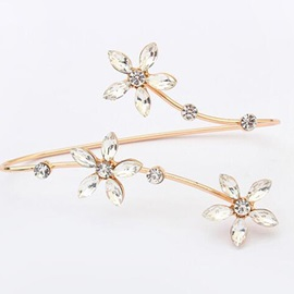 Sweet E-plating Flowers Bracelet for Women