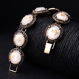 Graceful Round Rhinestones Women Bracelet