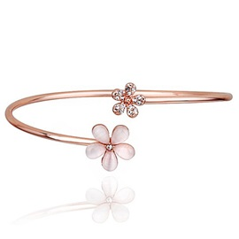 Beautiful Daisy Design Women Opening Bracelet