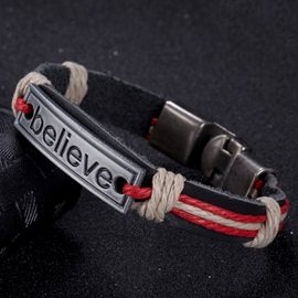 Vintage Style Strap Bracelet with Letters