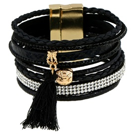 Multi-Layer Vintage Leather Bracelet