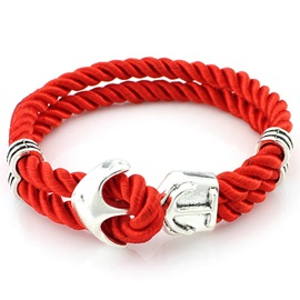 Multilayer Weave Anchor Bracelet