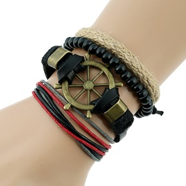 Multilayer Alloy Design Retro Bracelet